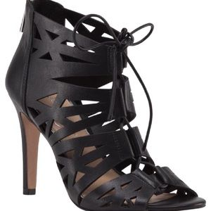 Jessica Simpson Leather Lace Up Heels